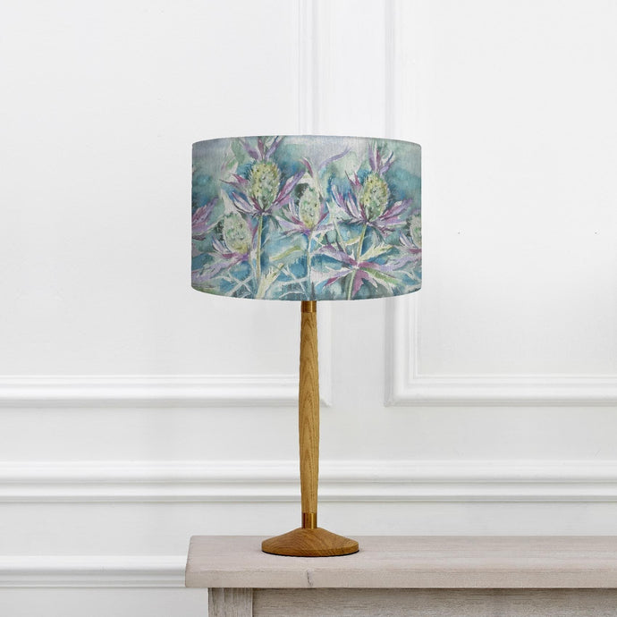 Sea Thistle 37cm Shade and Solensis Small Table Lamp