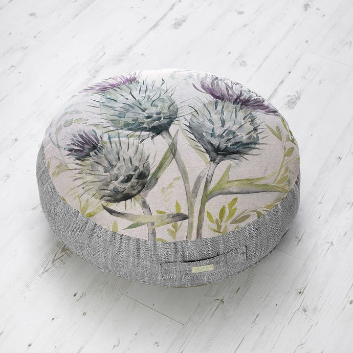Medium Floor Cushion with Thistle Glen Design (4467918110778)
