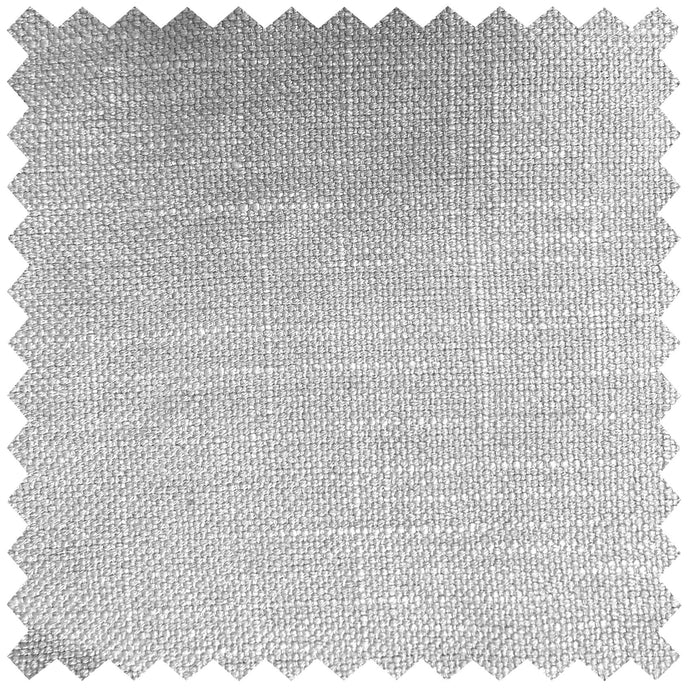 Verban Silver Dyed Linen - Fabric by the Metre
