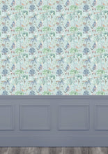 Load image into Gallery viewer, Woodland Adventures Aqua Wallpaper (4435146080314)