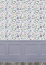 Load image into Gallery viewer, Woodland Adventures Lilac Wallpaper (4435146211386)