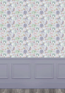 Woodland Adventures Lilac Wallpaper (4435146211386)