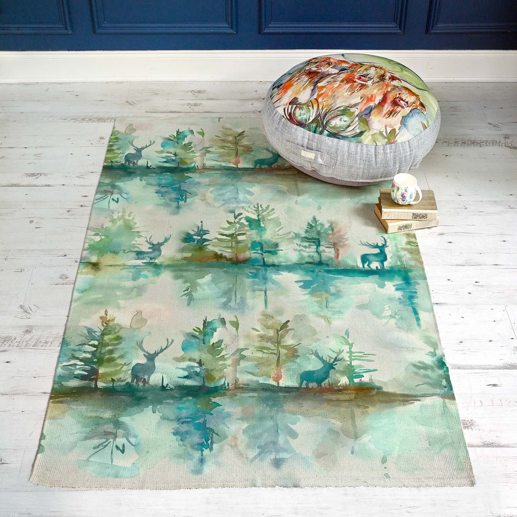 Wilderness Topaz 170x220 Large Watercolour Rug