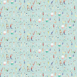 Voyage Alphabet People Mint Wallpaper (4435144179770)