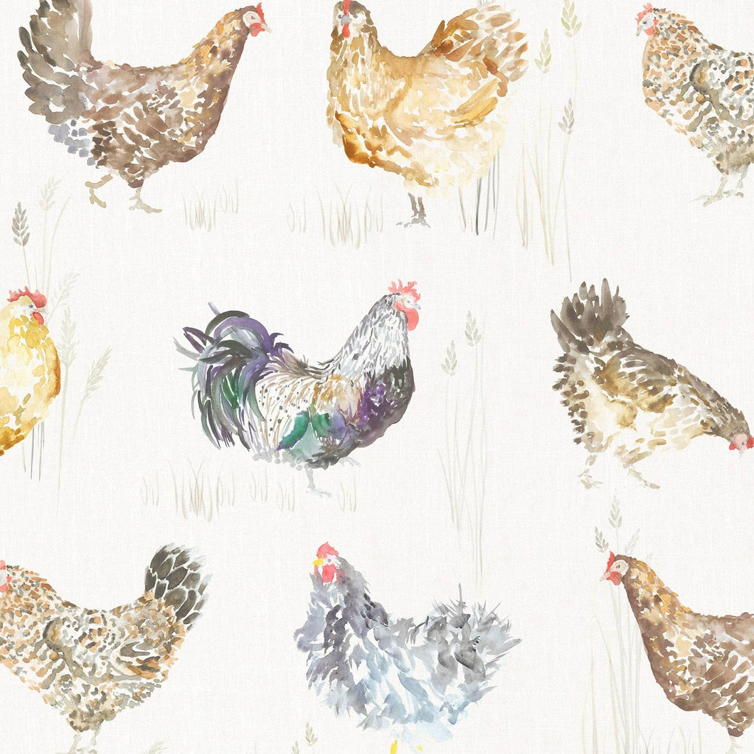 Voyage Chook Chook - Cream Wallpaper (4436285292602)