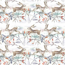 Load image into Gallery viewer, Voyage Christmas Hares Linen - Oil Cloth (4477927030842)