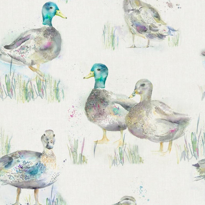 Darling Ducks Linen - Oil Cloth (4477941219386)