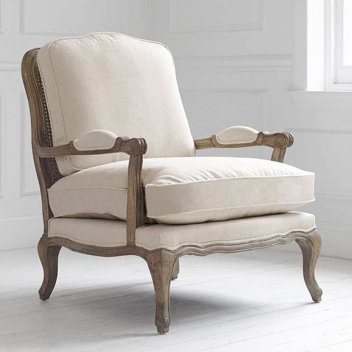 Natural Linen Florence Chair in Oak