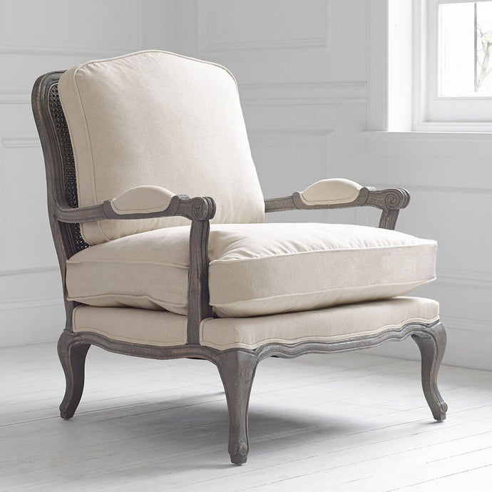 Natural Linen Florence Chair in Stone