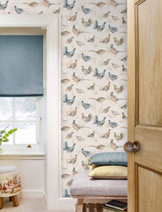 Game Birds - Linen Wallpaper (4436283785274)