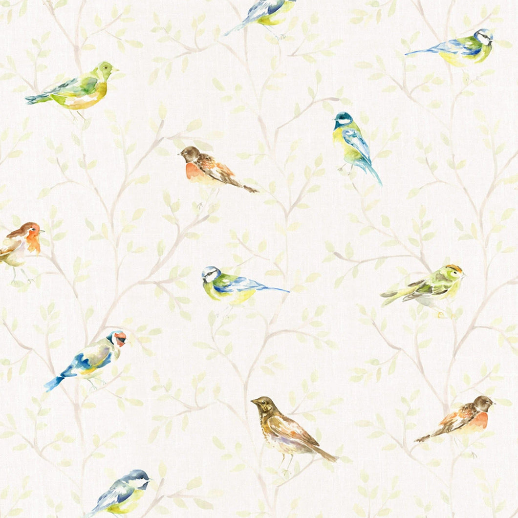 Voyage Garden Birds Small - Cream Wallpaper (4436285358138)