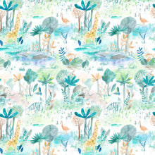Load image into Gallery viewer, Voyage Jungle Fun Aqua Wallpaper (4435144769594)