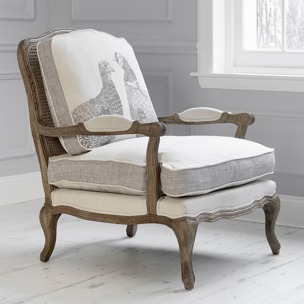 Kissing Pheasants Stone Florence Chair (4414601363514)