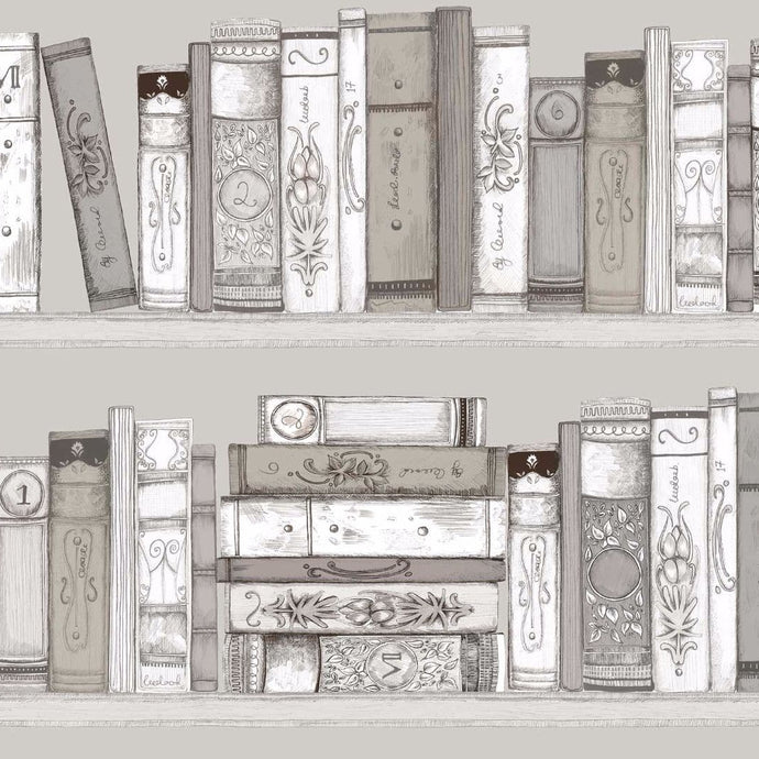 Voyage Library Books - Sepia Wallpaper (4435123142714)