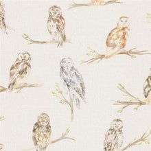 Load image into Gallery viewer, Voyage Small Owls - Linen Wallpaper (4436285620282)