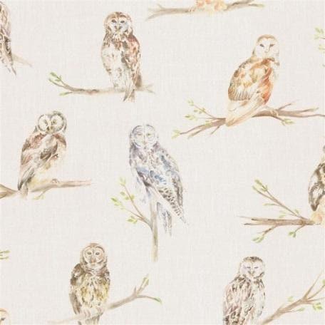 Voyage Small Owls - Linen Wallpaper (4436285620282)