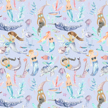 Load image into Gallery viewer, Voyage Mermaid Party Violet Wallpaper (4435145130042)