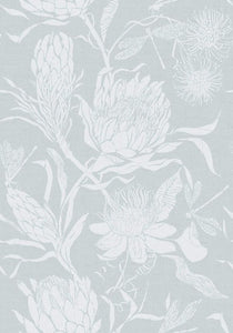 Voyage Moorehaven Damask - Robins Egg Wallpaper (4435094274106)
