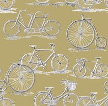 Load image into Gallery viewer, Voyage Penny Farthing - Mustard Wallpaper (4435124322362)