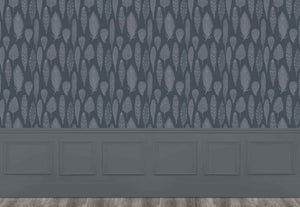 Samui Damask - Charcoal Wallpaper (4435154862138)