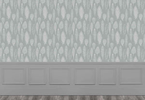 Samui Damask - Silver Wallpaper (4435155058746)