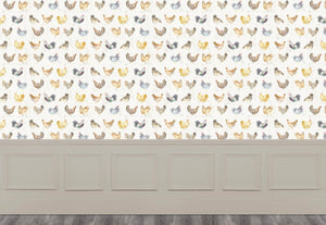 Chook Chook - Cream Wallpaper (4436285292602)