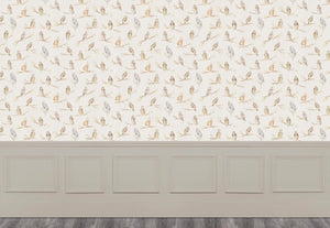 Small Owls - Linen Wallpaper (4436285620282)