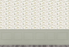 Load image into Gallery viewer, River Fish Small - Cream Wallpaper (4436284833850)