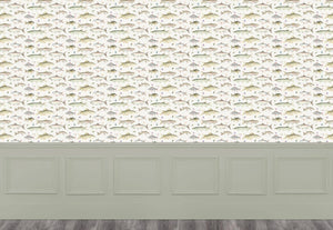 River Fish Small - Cream Wallpaper (4436284833850)