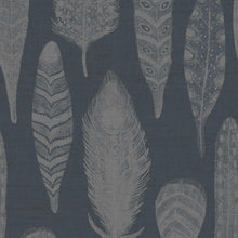 Load image into Gallery viewer, Voyage Samui Damask - Charcoal Wallpaper (4435154862138)