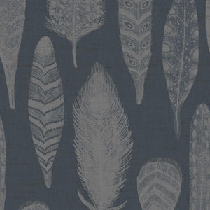 Voyage Samui Damask - Charcoal Wallpaper (4435154862138)