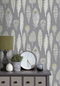 Samui - Natural Charcoal Wallpaper (4435154763834)