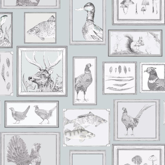 Voyage Sylva - Duck Egg Wallpaper (4435124682810)