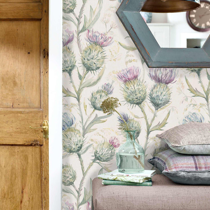 Voyage Thistle Glen - Spring Wallpaper