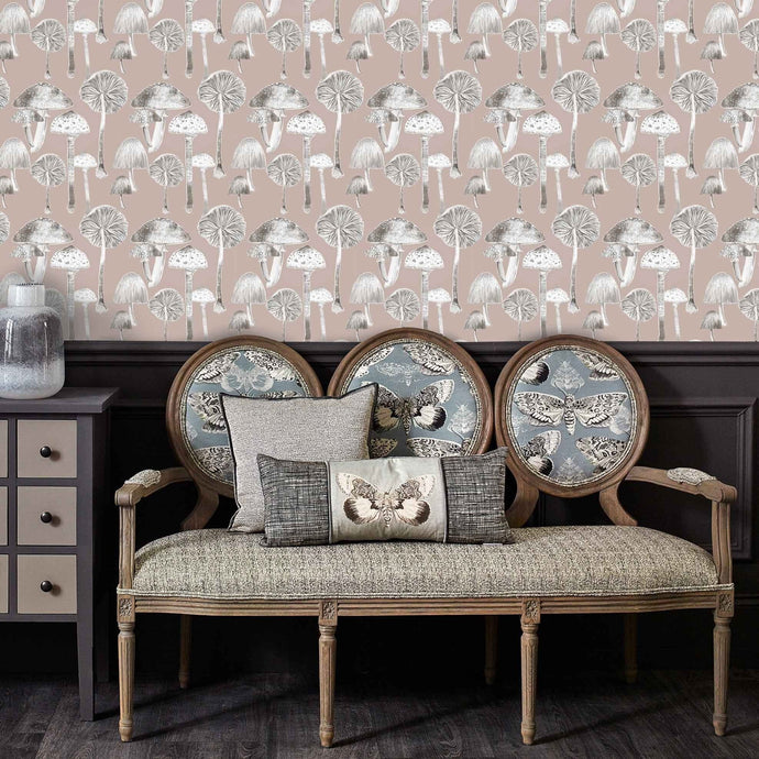 Voyage Toadstools - Taupe Wallpaper (4440222105658)