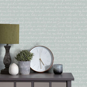 Voyage Typographera - Duck Egg Wallpaper (4435125567546)