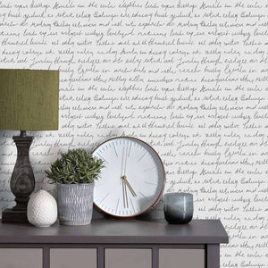 Voyage Typographera - Ebony Wallpaper (4435125141562)
