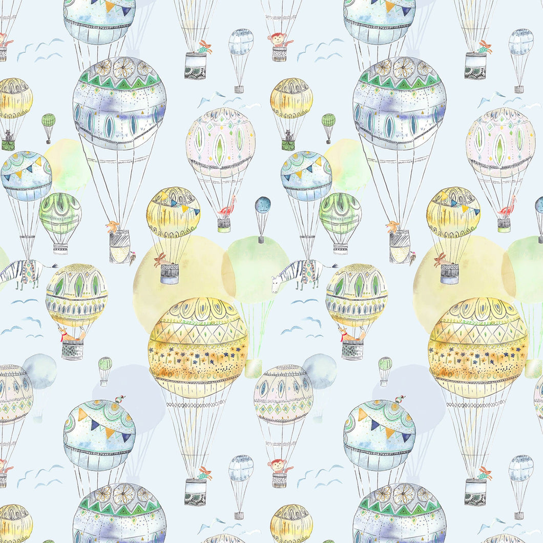 Voyage Up and Away Citrus Wallpaper (4435145621562)