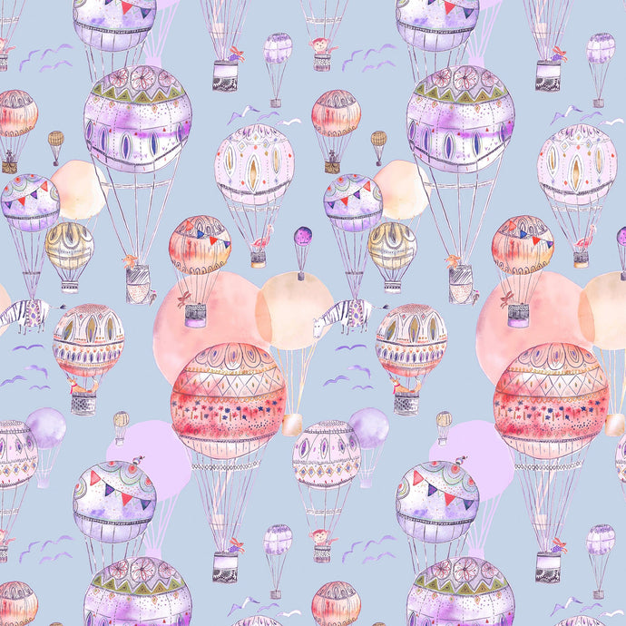 Voyage Up and Away Lilac Wallpaper (4435145719866)
