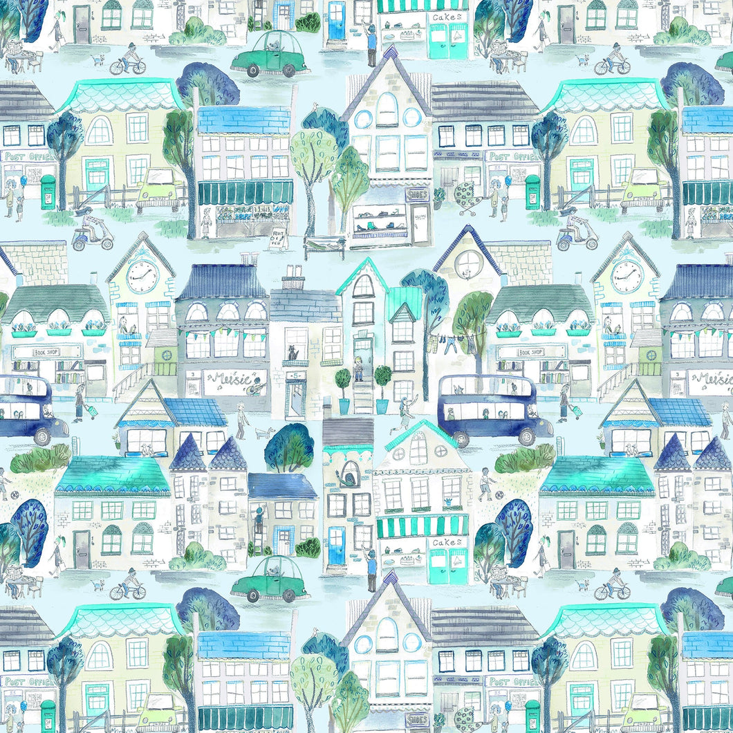 Voyage Village Streets Sky Wallpaper (4435145982010)