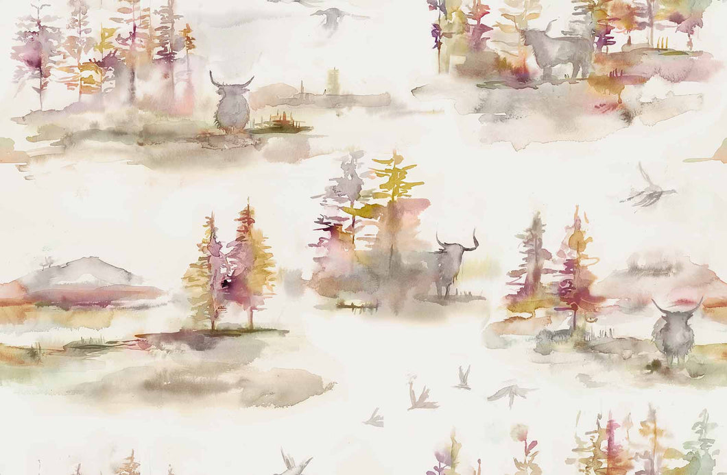 Voyage Caledonian Forest - Plum Wallpaper (4435100958778)