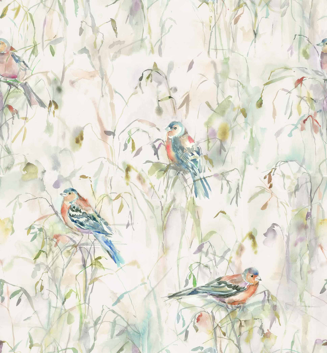 Voyage Chaffinch - Cream Wallpaper (4435100991546)