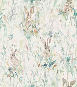 Voyage Jack Rabbit - Cream Wallpaper (4435101220922)