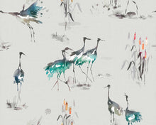 Load image into Gallery viewer, Voyage Cranes  Cobalt Wallpaper (4436437696570)