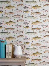 Load image into Gallery viewer, River Fish Small - Linen Wallpaper (4436284866618)