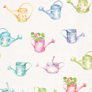 Voyage Watering Cans Small - Cream Wallpaper (4436285784122)