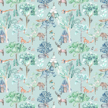 Load image into Gallery viewer, Voyage Woodland Adventures Aqua Wallpaper (4435146080314)