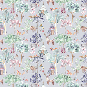 Voyage Woodland Adventures Lilac Wallpaper (4435146211386)