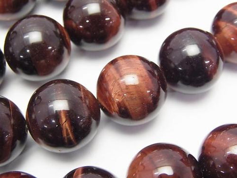 Red Tiger Eye AA ++ Round 16 mm half or 1 strand (aprx.15 inch / 36 cm)