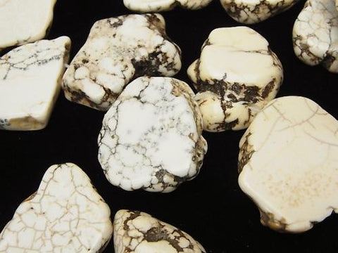 1strand $7.79! Magnesite Flat Nugget Top Side Drilled Hole 1strand (aprx.15inch / 38cm)